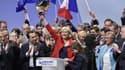Marine Le Pen en meeting à Lille, où elle a réalisé de très bons résultats au premier tour.