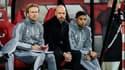 Christian Poulsen (à gauche) et le staff de l'Ajax