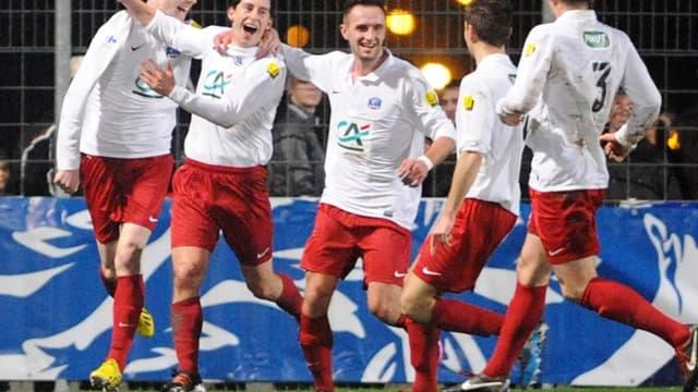 La joie de Plabennec après la victoire contre Reims
