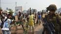 A Bangui, quelques heures avant l'annonce de la démission du président par intérim.