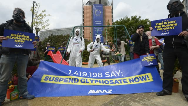 Une manifestation d'opposants au glyphosate le 18 mai 2016 à Bruxelles