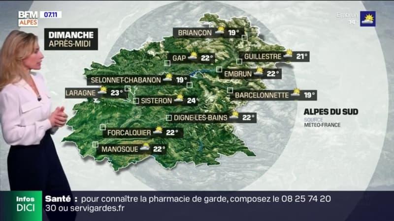 Météo: un temps ensoleillé ce dimanche matin, quelques nuages dans l'après-midi, jusqu'à 24°C à Sisteron et 22°C à Gap