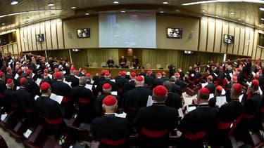 Réunion de cardinaux le 4 mars 2013 au Vatican