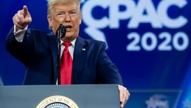 Donald Trump lors de la conférence CPAC à National Harbor, près de Washington, le 29 février 2020