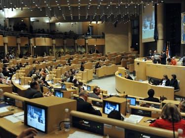 L'hémicycle du conseil régional de Paca à Marseille, en 2010 (illustration)