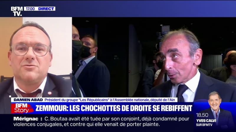 """Damien Abad: """"Éric Zemmour, comme Madame Le Pen, ne seront jamais élus président de la République"""""""