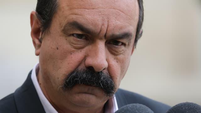 """Philippe Martinez a de nouveau estimé que les cheminots n'étaient """"pas des privilégiés""""."""