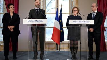 Frédérique Vidal, Édouard Philippe, Muriel Pénicaud et Jean-Michel Blanquer ont présenté la réforme de l'apprentissage