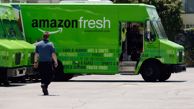 Le service de livraisons de course d'Amazon, Amazon Fresh, va être lancé en Allemagne.