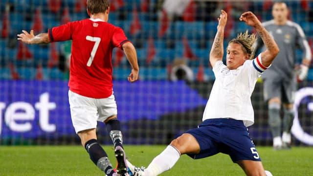 Philippe Mexès lors du match amical contre la Norvège (défaite 1-2)