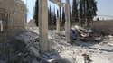 Ancienne position d'al Qaïda près d'Alep après des frappes américaines.