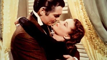 Clark Gable et Vivien Leigh dans Autant en emporte le vent