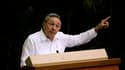 Raul Castro discourt lors de la cérémonie de clôture du congrès du Parti communiste cubain, dont il a pris la tête mardi en remplacement de son frère Fidel, auquel il avait déjà succédé à la tête de l'Etat. Son numéro deux sera l'idéologue José Machado Ve