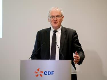 Le PDG d'EDF, Jean-Bernard Lévy, lors de la présentation des résultats 2019 du groupe à Paris, 14 février 2020