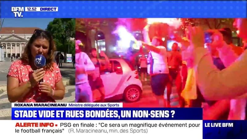 """Liesse à Paris: la ministre des Sports en appelle au civisme des supporters et à """"adapter sa manière de fêter"""""""