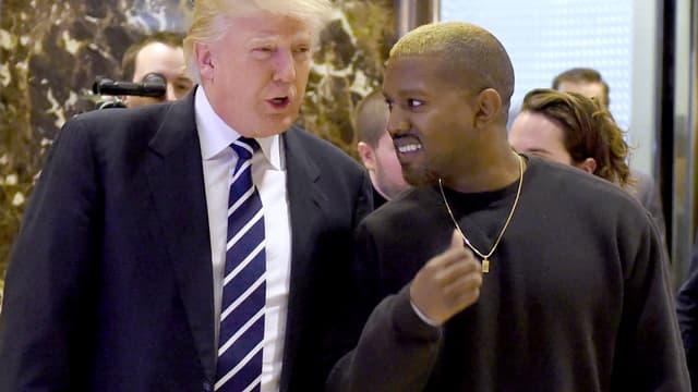 Donald Trump et Kanye West à la Trump Tower à New York, le 13 décembre 2016