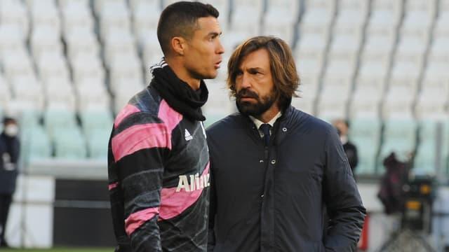Cristiano Ronaldo et Andrea Pirlo, à Turin le 24 janvier 2021