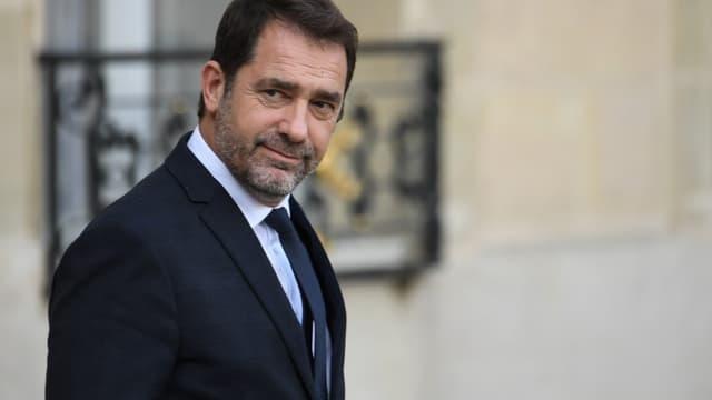 Le ministre de l'Intérieur Christophe Castaner sort de l'Elysée, le 7 novembre 2019