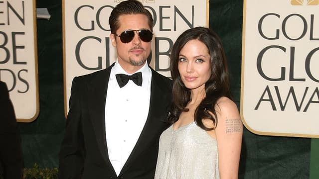 Brad Pitt et Angelina en janvier 2009 aux Golden Globes.