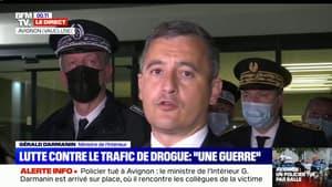 """Gérald Darmanin à propos du policier tué à Avignon: """"Nous pleurons ce policier, mais sa mort n'est pas vaine"""""""