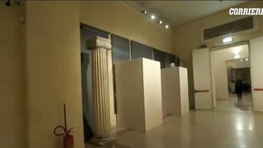 Le musée du Capitole de Rome réorganisé pour la venue du président iranien Hassan Rohani