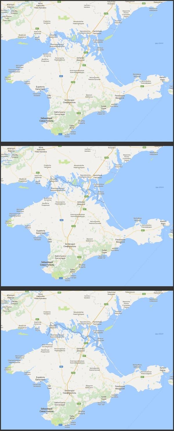 Sources: google.com.ua (en haut) ; google.fr (au milieu) ; google.ru (en bas)