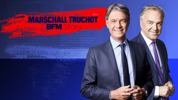 "Alain Marschall et Olivier Truchot présentent ""BFM Story"" sur BFMTV"