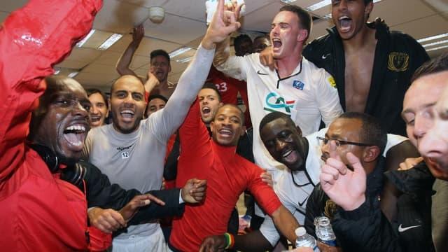 La joie des Cannois après leur victoire contre Saint-Etienne