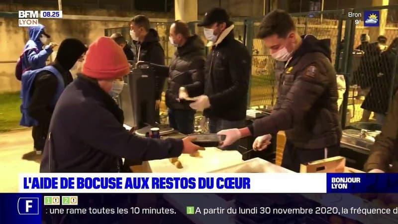 Villeurbanne: Paul Bocuse régale les bénéficiaires des Restos du Cœur