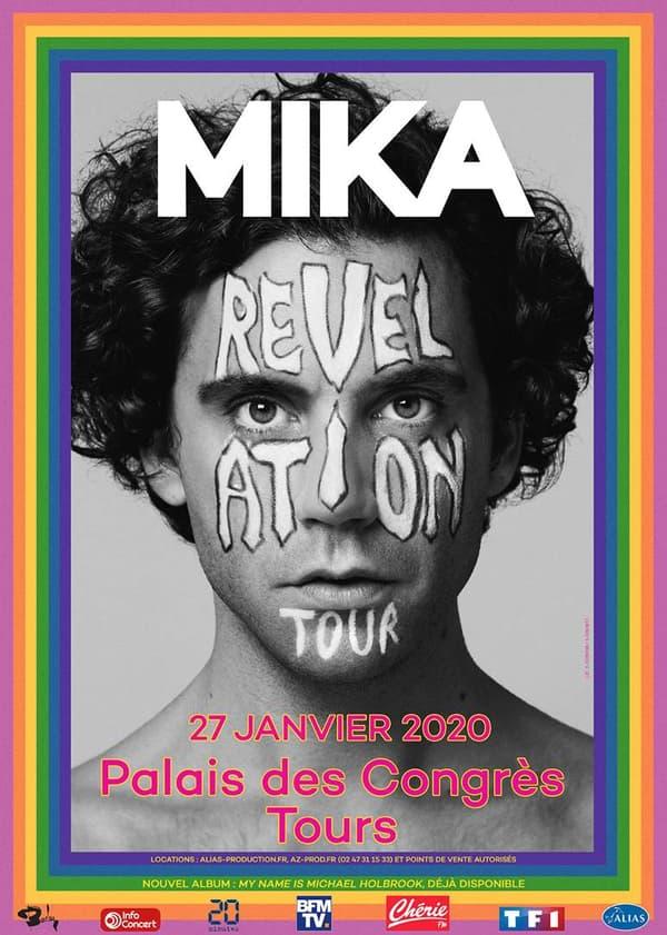 Mika passera au Palais des Congrès de Tour le 27 janvier 2020.
