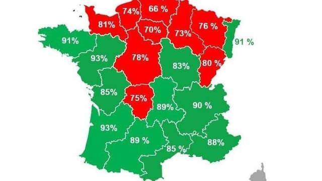 82 % des Français sont satisfaits de leur région