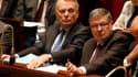 Le ministre des relations avec le Parlement, Alain Vidalies, aux côtés de Jean-Marc Ayrault à l'Assemblée nationale.