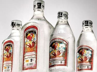 Des bouteilles de gin Ginebra S. Miguel