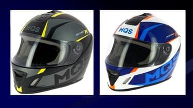 """Ce caque de marque MQS présente un """"risque de blessure lié au manque de maintien du casque, pouvant réduire l'efficacité de la protection en cas de choc""""."""