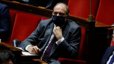 Eric Dupond-Moretti, garde des Sceaux,  lors des questions au gouvernement à l'Assemblée nationale à Paris le 8 décembre 2020
