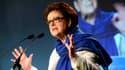 Christine Boutin le 17 mai 2014 lors d'un meeting à Paris, avant les élections européennes.