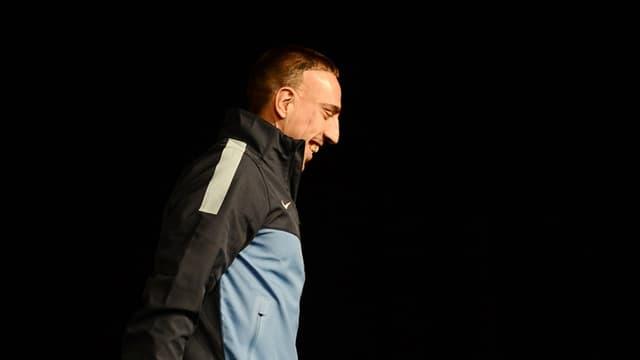 Franck Ribéry tout sourire en conférence de presse ce mardi