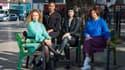 De gauche à droite, Gemma Evans, Serena Laidley, Jenn Selby et Eljai Morais.