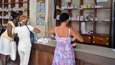 Dans une pharmacie de La Havane, la capitale cubaine, en novembre 2013. (photo d'illustration)