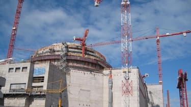 Le chantier du réacteur nucléaire finlandais Olkiluoto-3, le 15 juin 2010.