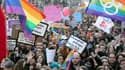"""La participation a été plus forte ce dimanche que lors de la dernière manifestation pour le """"mariage pour tous""""."""