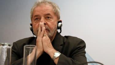 l'ancien président brésilien Luis Inacio Lula Dasilva en conférence, le 22 juin 2015.