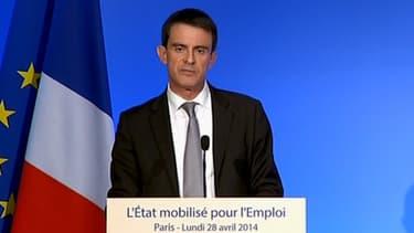 Manuel Valls a défendu ce 28 avril les mesures en faveur de la compétitivité
