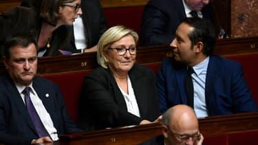 Marine Le Pen sur les bancs de l'Assemblée nationale le 31 octobre 2017