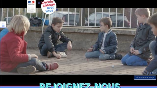 Image tirée de la campagne du ministère de l'Education nationale pour promouvoir de nouveaux recrutements.