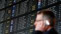 A l'aéroport Zaventem, près de Bruxelles, mardi. Selon l'Association internationale des transports aériens (Iata), la paralysie du trafic aérien causée par l'éruption du volcan islandais Eyjafjöll a coûté 1,7 milliard de dollars aux compagnies aériennes.