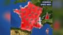 Les températures prévues en France métropolitaine vendredi 31 mai, dans l'après-midi.
