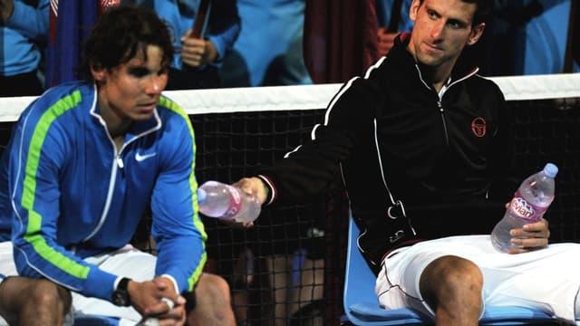 Novak Djokovic et Rafael Nadal au bout de leurs forces