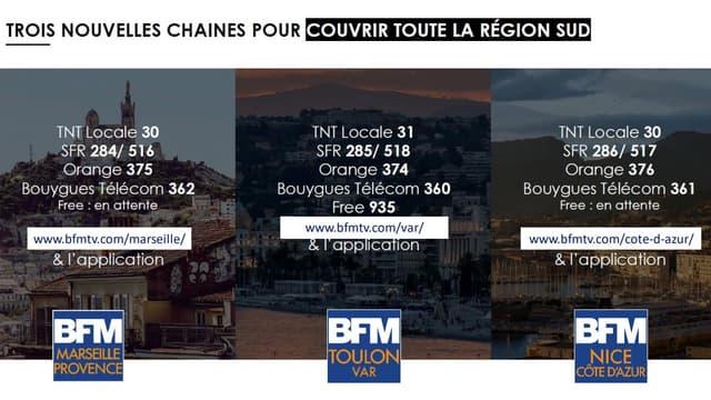 Voir les chaînes locales BFM