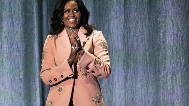 L'ancienne Première Dame des Etats-Unis Michelle Obama à Copenhague le 9 avril 2019